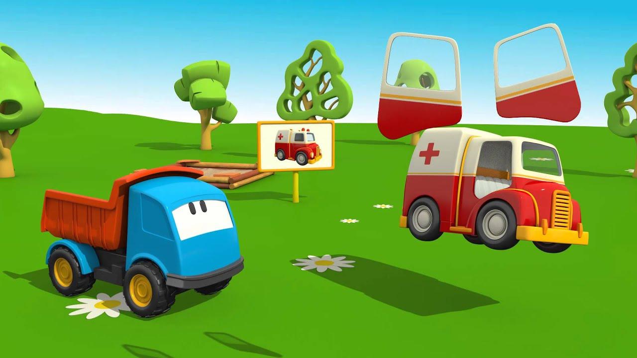Léo Le Camion Curieux - L'Ambulance | Dessins Animés En intérieur Dessin Animé Camion Grue
