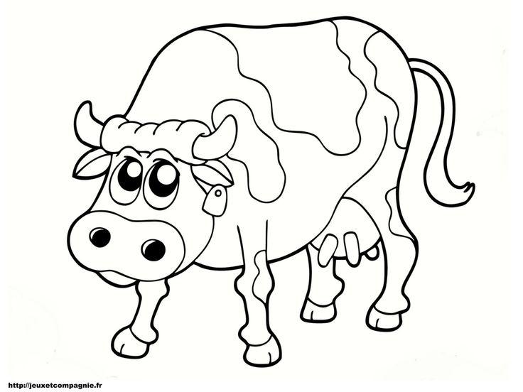 Les 12 Meilleures Images Du Tableau Coloriages Sur intérieur Coloriage D Animaux De Vache