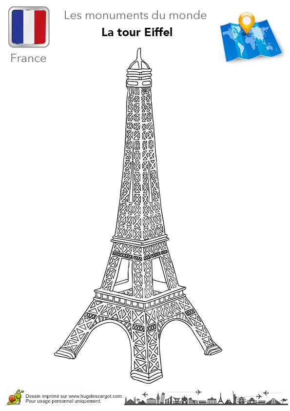 Les 194 Meilleures Images Du Tableau Dessins Pour destiné Dessiner La Tour Eiffel