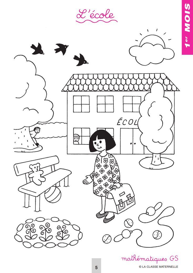 Les 200 Meilleures Images Du Tableau Pour L' École avec Coloriage Rentr?E Gs