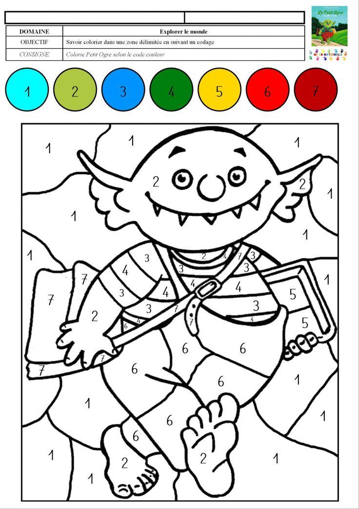 Les 25 Meilleures Idées De La Catégorie Coloriage Magique pour Coloriage Magique Gs À Imprimer