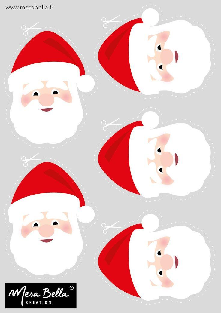 Les 25 Meilleures Idées De La Catégorie Tete De Pere Noel dedans Image De Pere Noel Gratuite A Imprimer