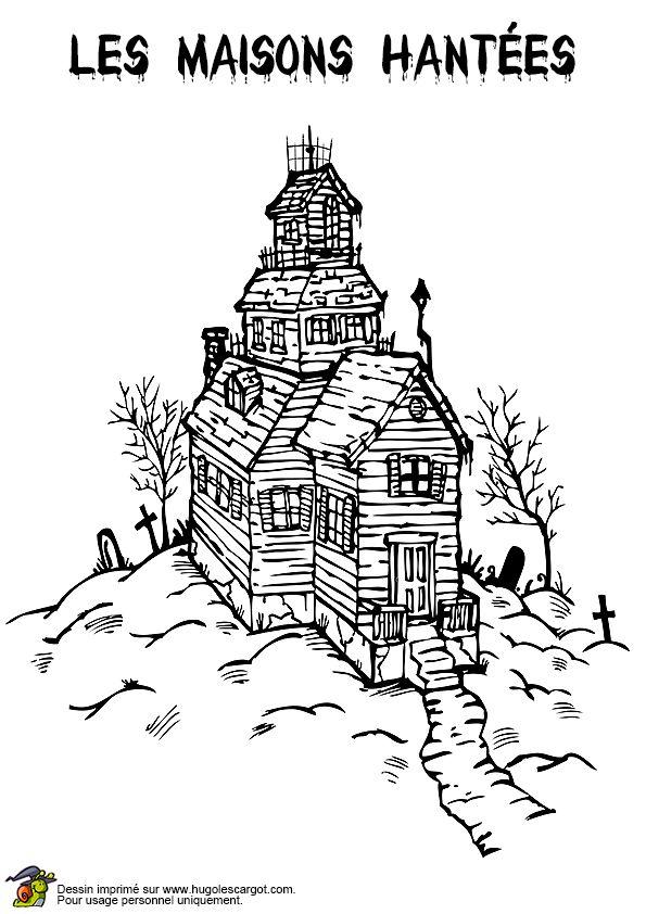 Les 25 Meilleures Idées De La Catégorie Vieux Manoirs Sur encequiconcerne Coloriage Chateau Hanté