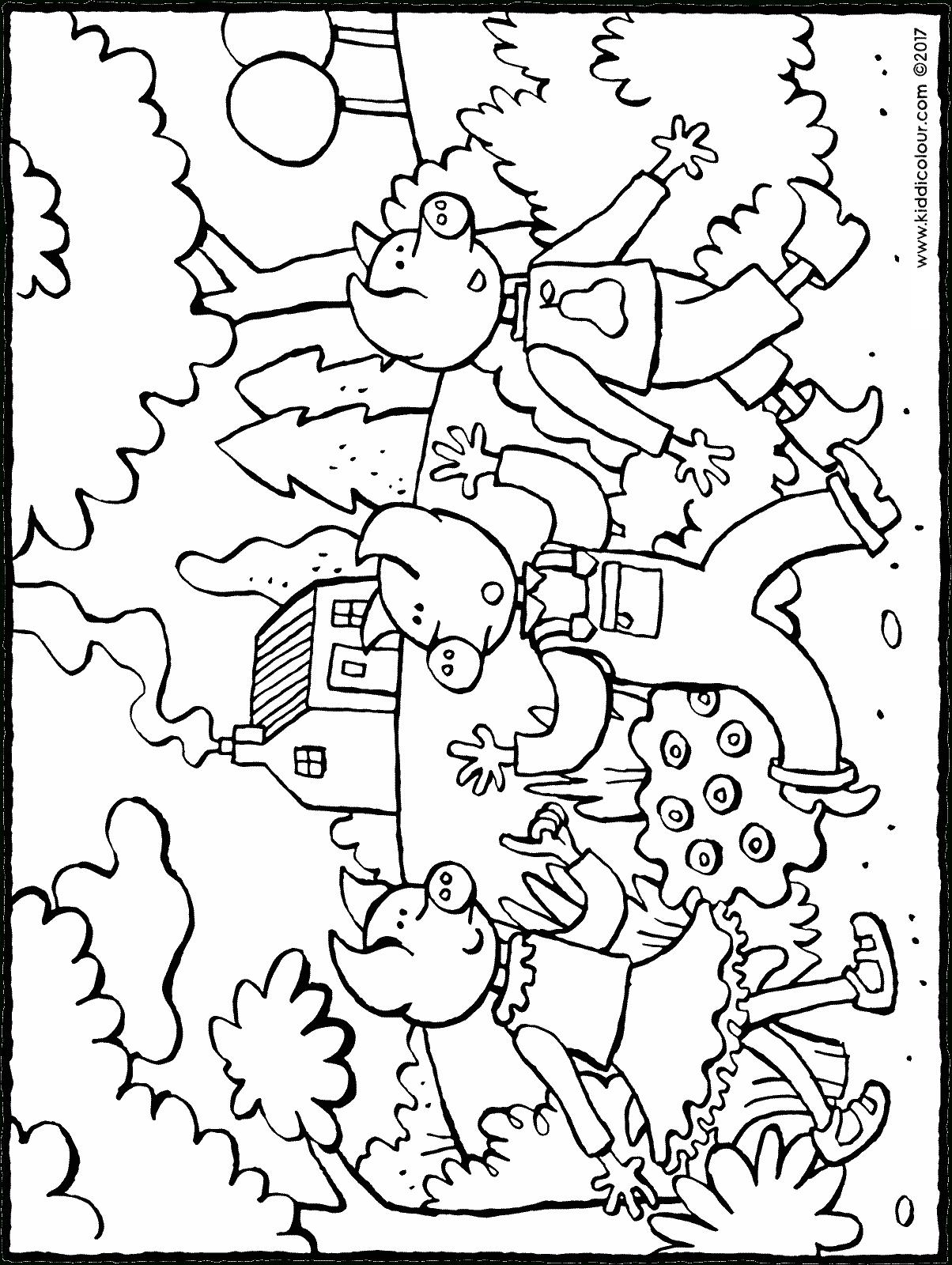 Les 3 Petits Cochons Dans La Forêt - Kiddicoloriage encequiconcerne Dessin Petit Cochon