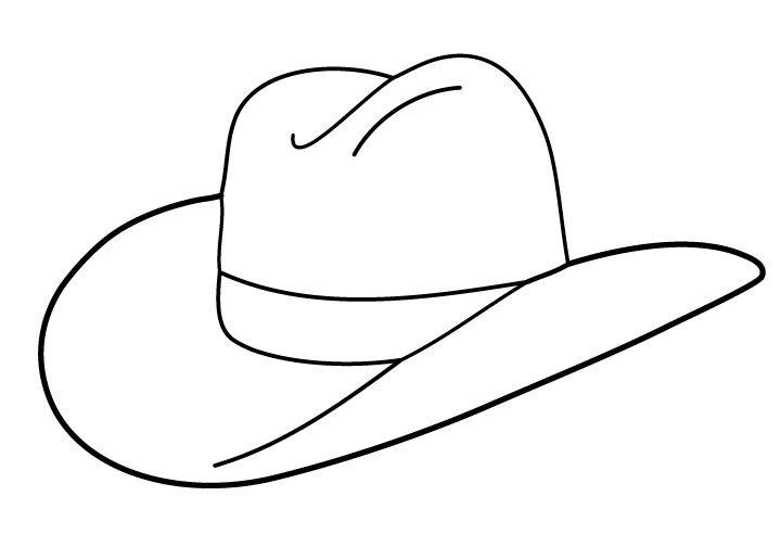 Les 328 Meilleures Images Du Tableau Coloring Western tout Dessin Chapeau De Cowboy