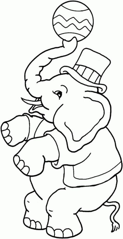 Les 48 Meilleures Images Du Tableau Coloriages De Cirque dedans Dessin Animaux Elephant De Cirque
