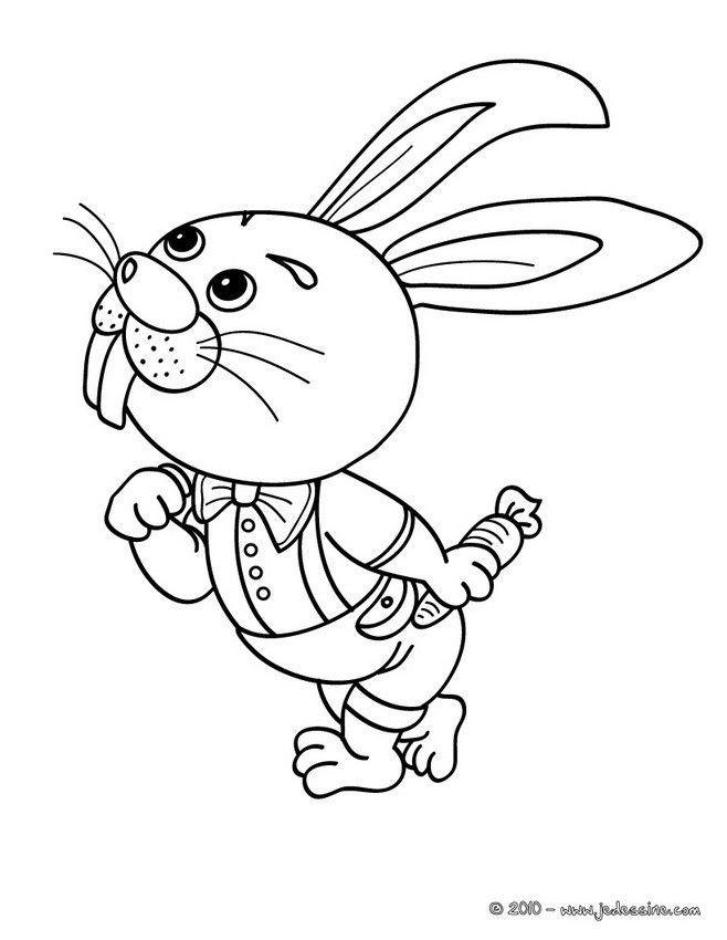 Les 49 Meilleures Images Du Tableau Coloriages Animaux concernant Coloriage D Un Lapin