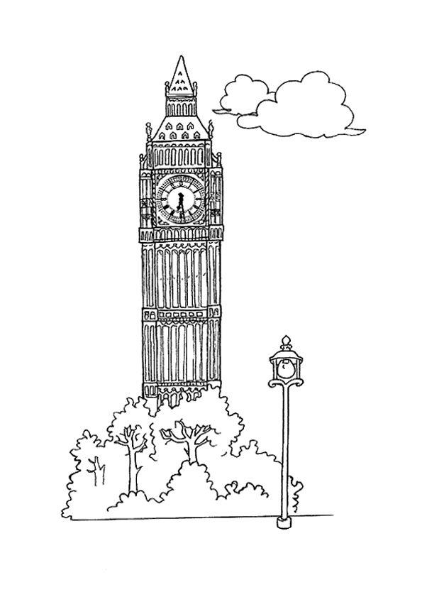 Les 71 Meilleures Images Du Tableau Découvrir L à Coloriage Londres À Imprimer
