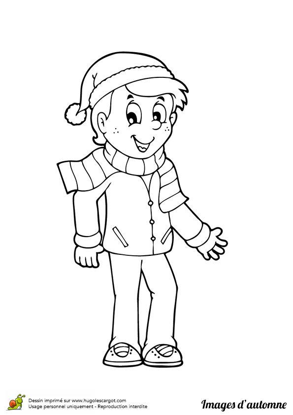 Les 83 Meilleures Images Du Tableau Coloriages Enfants Sur concernant Dessin D Un Petit Garçon