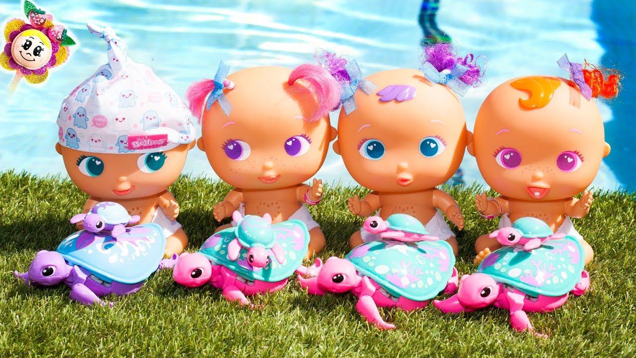 Les Bébés Bellies De Peppa Pig Veulent Une Mascotte ! Ils avec Peppa Pig A La Piscine