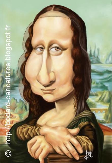 Les Caricatures De Bod' destiné La Joconde Dessin