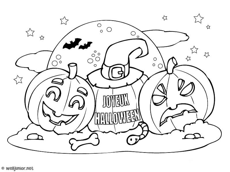 Les Citrouilles : Coloriage Halloween Gratuit Sur Webjunior à Coloriages Halloween À Imprimer Gratuitement