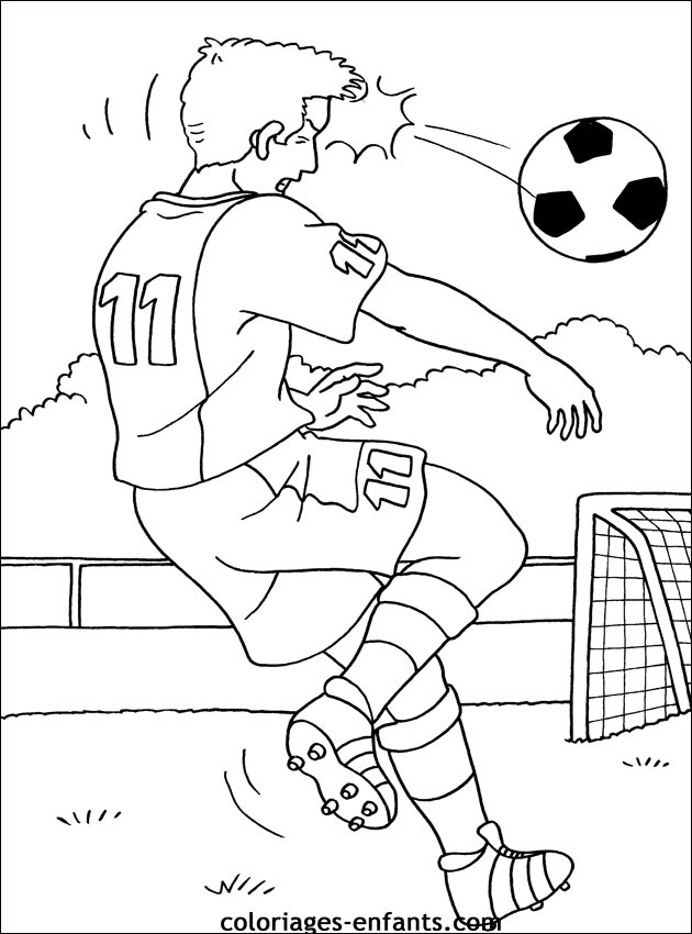 Les Coloriages De Football À Imprimer concernant Coloriage De Footballeur