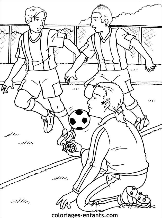 Les Coloriages De Football À Imprimer intérieur Coloriage Equipe De Foot