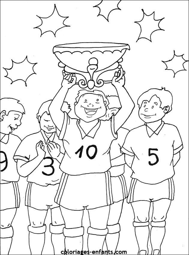 Les Coloriages D'Football À Imprimer Sur Coloriages avec Coloriage Equipe De Foot