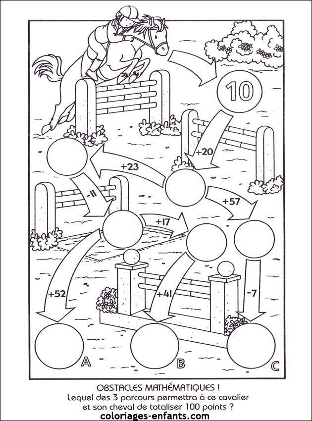 Les Jeux De Coloriages-Enfants | Optellen En Aftrekken, Hoofdrekenen, Wiskunde Werkbladen encequiconcerne Jeux De Coloriage