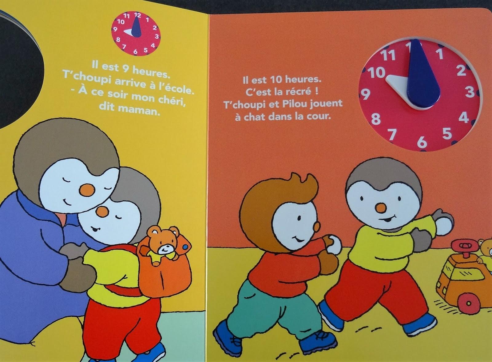 Les Mercredis De Julie: [Livre Horloge] T'Choupi Ma Journée intérieur Tchoupi A L'Ecole Saison 1 Telechargement
