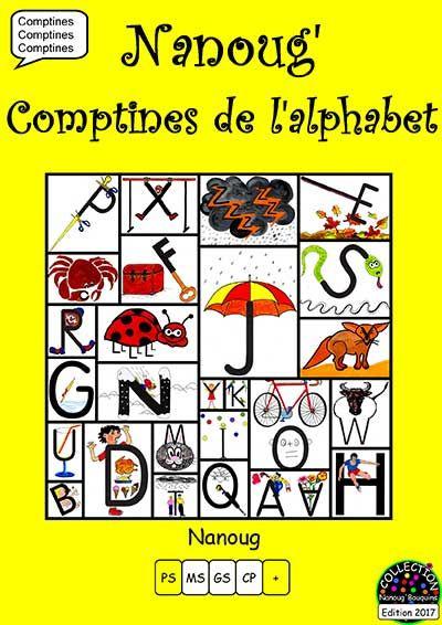 Les Nanoug'comptines De L'alphabet | Tilekol à Comptine De L Alphabet