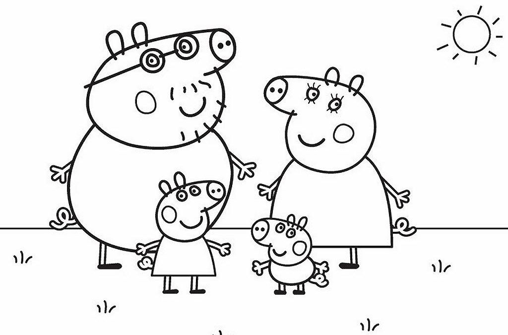 Les Nouveaux Coloriages De Peppa Pig Sont Arrivés encequiconcerne Jeux Peppa Pig Gratuit