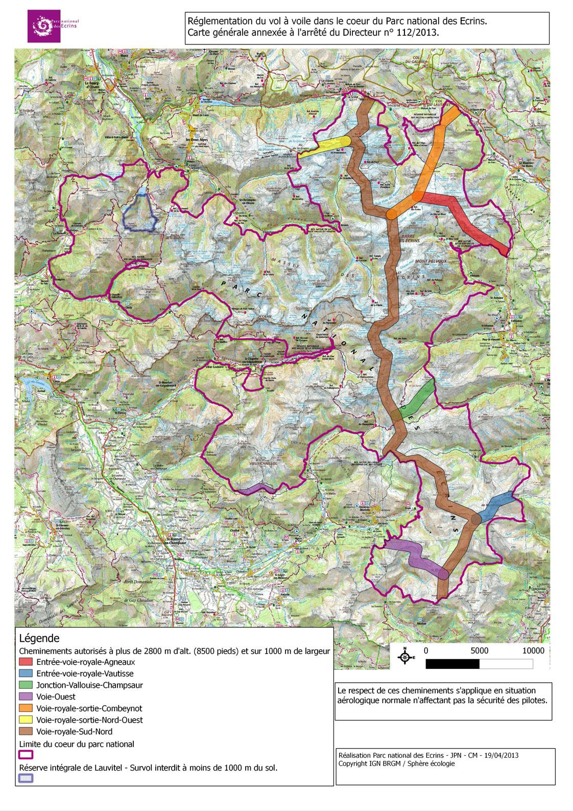 Les Survols Non Motorisés | Parc National Des Ecrins concernant Parc Des Ecrins