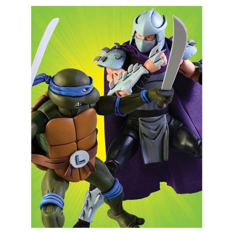 Les Tortues Ninja Pack 2 Figurines Leonardo Vs Shredder tout Tortue Ninja Shredder