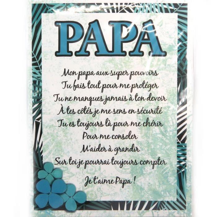 Les Trésors De Lily [N4185] - Toile Poème Papa (20X15 Cm serapportantà Poeme Pour Papa
