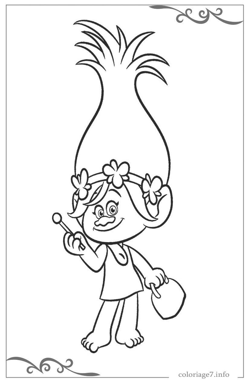 Les Trolls Coloriages Pour Filles Gratuits À Imprimer à Dessin De Troll