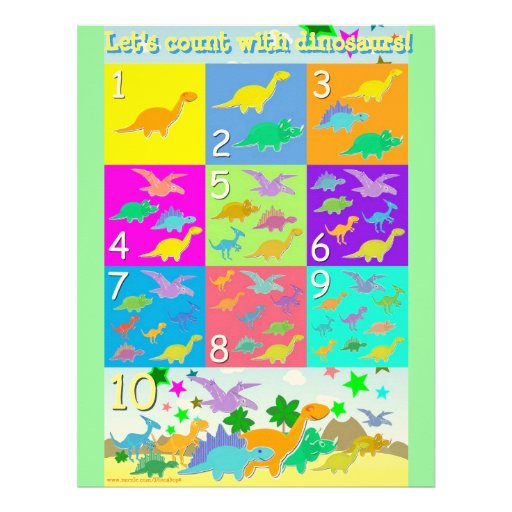 "Let'S Count Dinosaurs Numbers Learning Worksheet tout Cache: .Com"" ""Learn-Numbers-In-English"""""