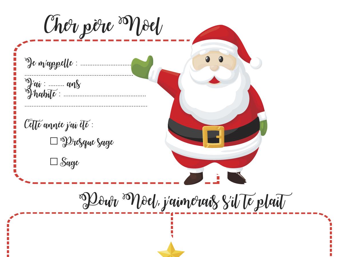 Lettre Au Père Noël À Imprimer - Plume & Picoti serapportantà Image De Pere Noel Gratuite A Imprimer