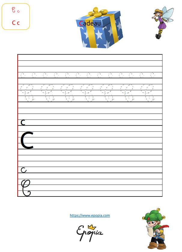 Lettre C En Majuscule, Minuscule, Cursive / Attaché Et Script serapportantà Lettre En Cursive Majuscule