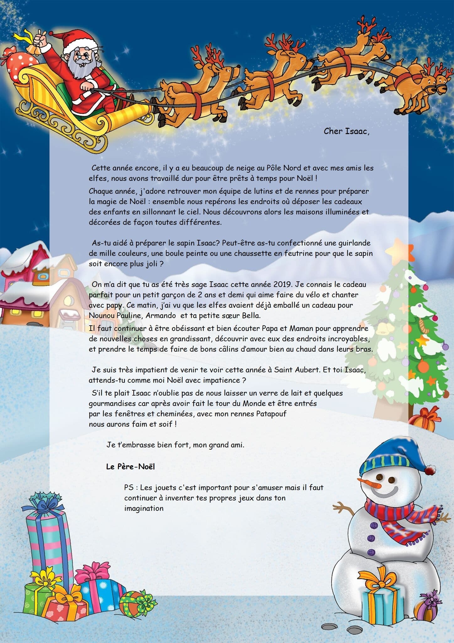 Lettre Du Père Noël Personnalisée Pour Chanson De Noel concernant Chansons Du Pere Noel