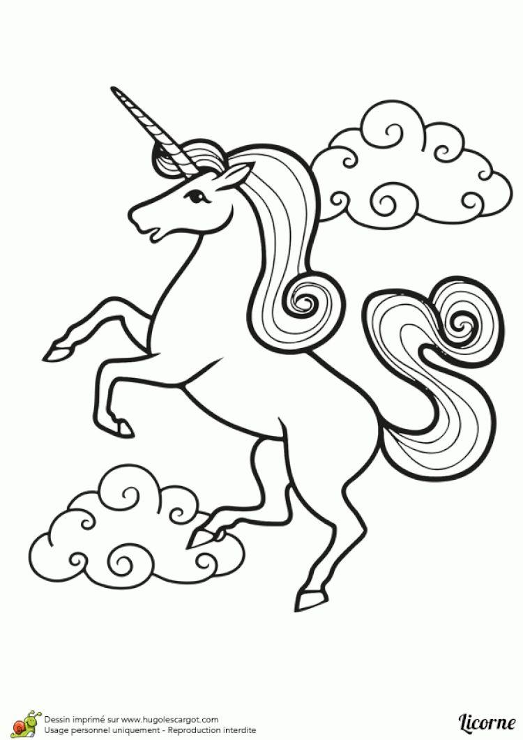 Licorne A Dessiner | Licorne Coloriage, Dessin Licorne destiné Licorne Coloriage