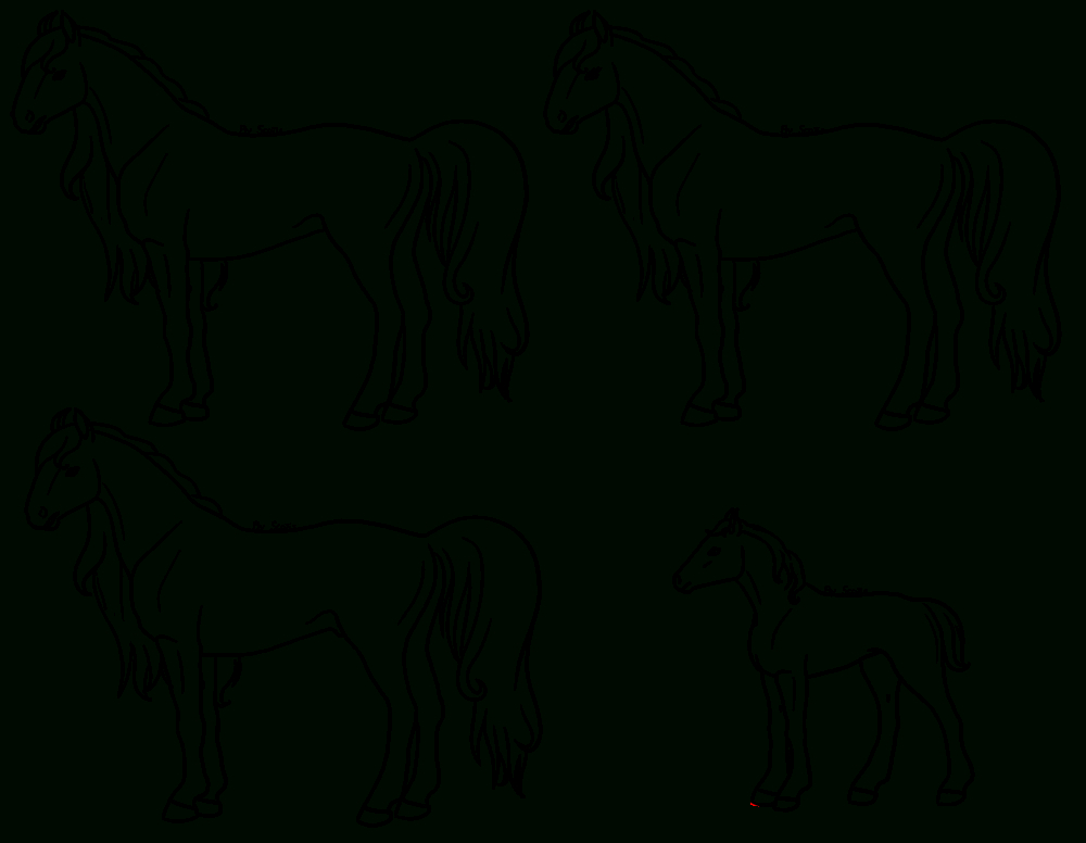 Lineart / Coloriage Cheval - Scotis.fr pour Coloriage Chevaux