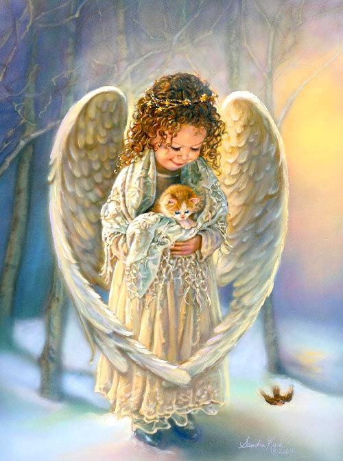 Little Angel With Kitten - Angels Photo (7613628) - Fanpop avec Little Angel
