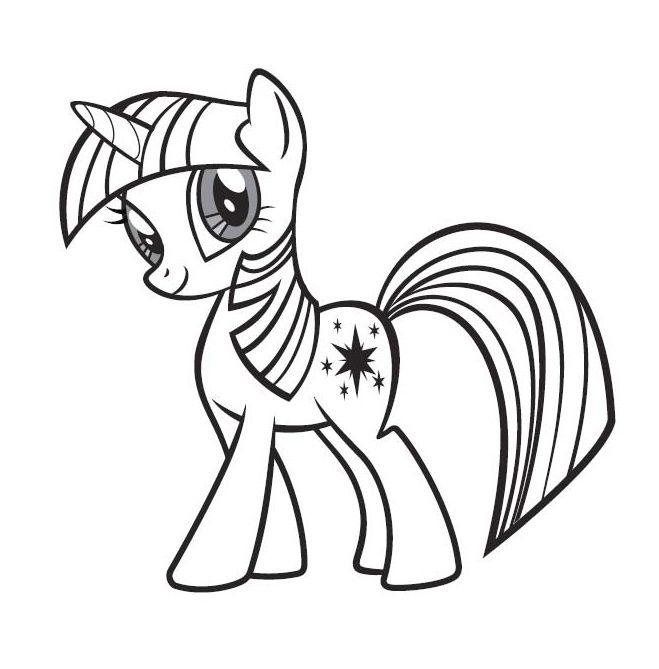 Little Poney Twilight Sparkle | Coloriage, Licorne à Coloriage Gratuit My Little Pony