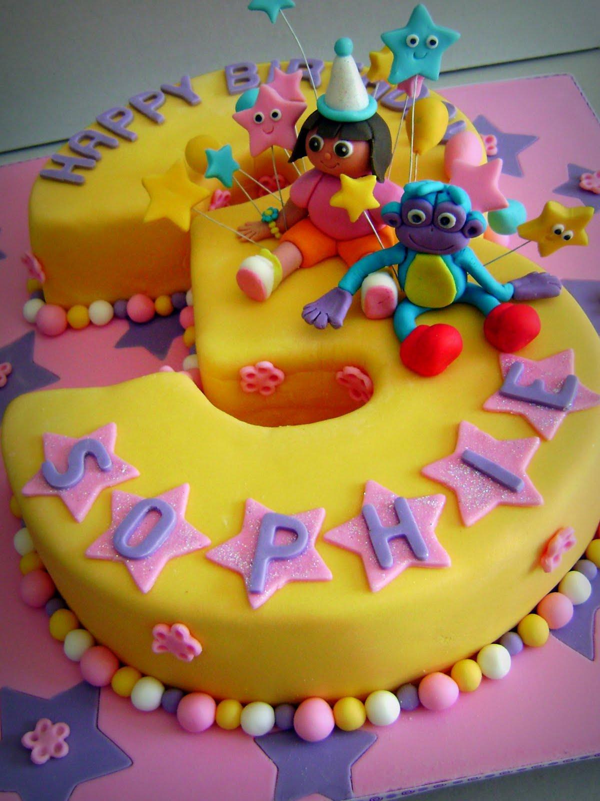 Little Wish Cakes: Dora And Boots intérieur Gateau Dora