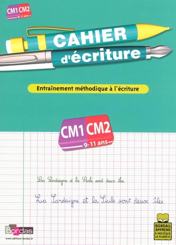 Livre: Cahier D'Écriture, Cours Moyen, Cm1-Cm2, 9-11 Ans encequiconcerne Un Cahier D??Criture Cm1 Cm2
