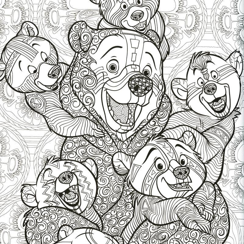 Livre Coloriage Adulte - A4 - Disney Le Nouveau Bestiaire à Coloriage Mandala Disney A Imprimer