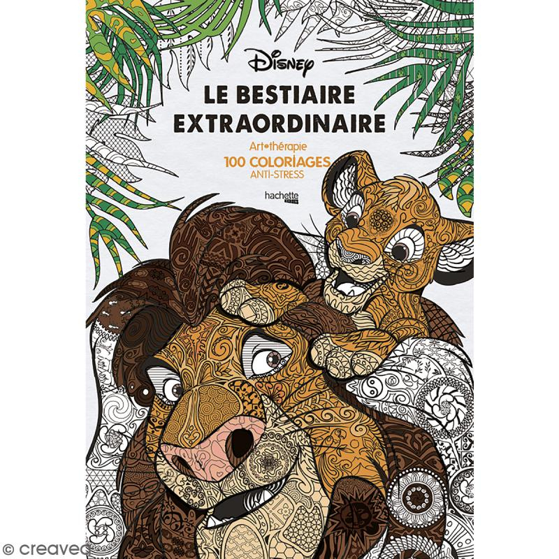 Livre Coloriage Adulte Anti-Stress - A4 - Disney Bestiaire serapportantà Carnet Coloriage Adulte