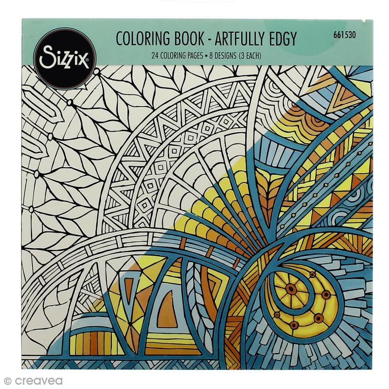 Livre Coloriage Adulte Sizzix Encadrement Artistique - 24 tout Des Coloriage