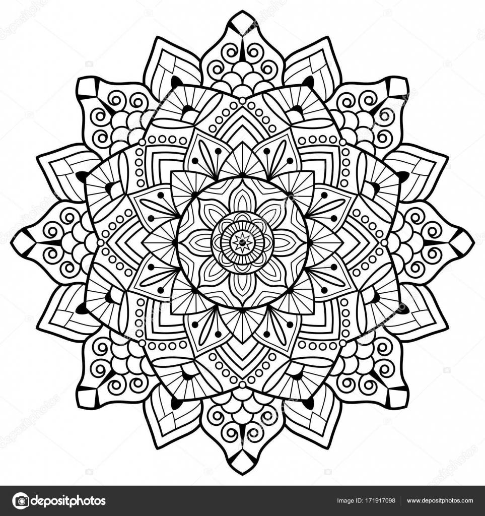 Livre De Coloriage. Mandala — Image Vectorielle Jelisua88 tout Coloriage Mandale