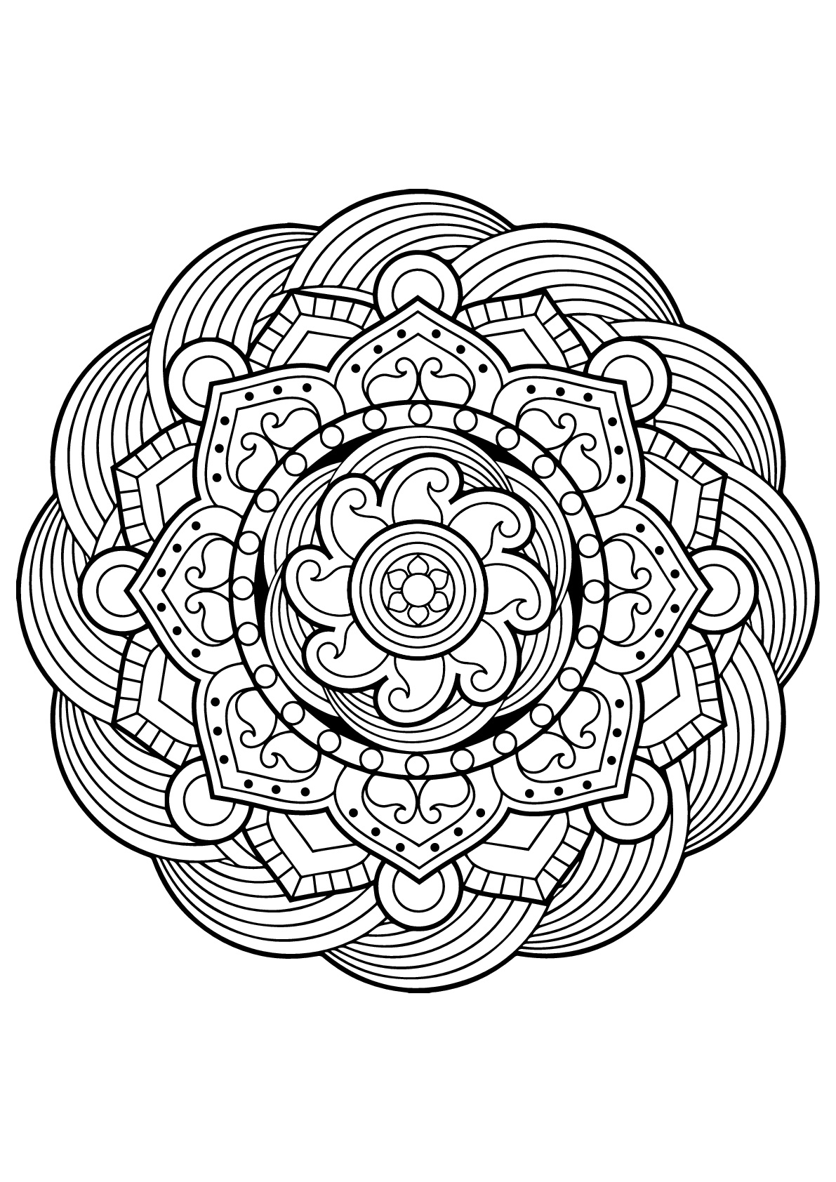Livre De Coloriage Mandala | Imprimer Et Obtenir Une Coloriage Gratuit Ici destiné Coloriage Mandala Disney À Imprimer Gratuit