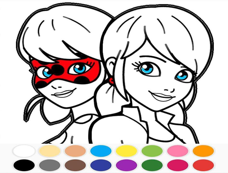 Livre De Coloriage Miraculous Ladybug Et Cat Noir For concernant Coloriage Lady Bug