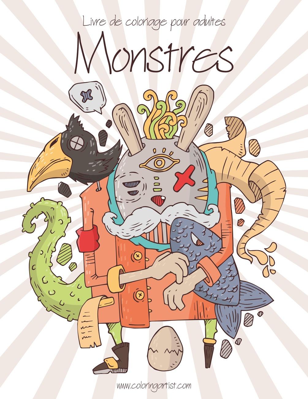 Livre De Coloriage Pour Adultes Monstres 1 concernant Livre De Coloriage Pour Adulte