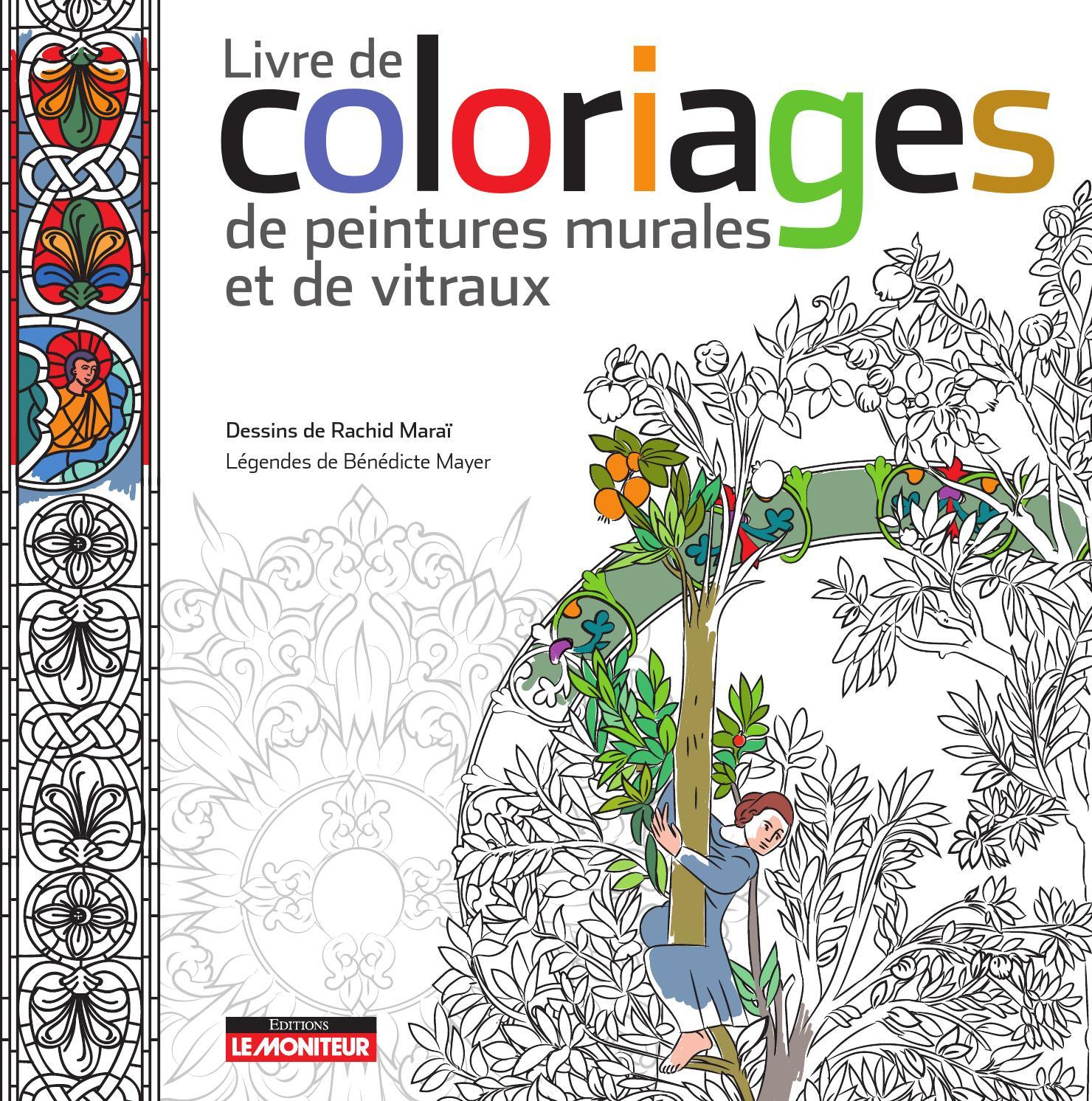 Livre De Coloriages De Peintures Murales Et De Vitraux By intérieur Des Coloriage
