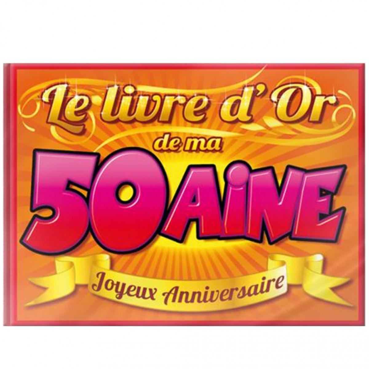Livre D'Or 50 Ans, Achat/Vente Cadeau Anniversaire Pas tout Livre De Coloriage Pas Cher
