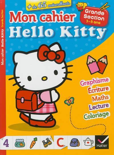 Livre : Mon Cahier Hello Kitty - Hatier encequiconcerne Album Coloriage
