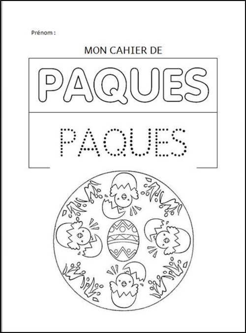 Livret De Pâques | Paques, Activité De Paques, Jeux De Paques encequiconcerne Cahier De Coloriage À Imprimer Maternelle
