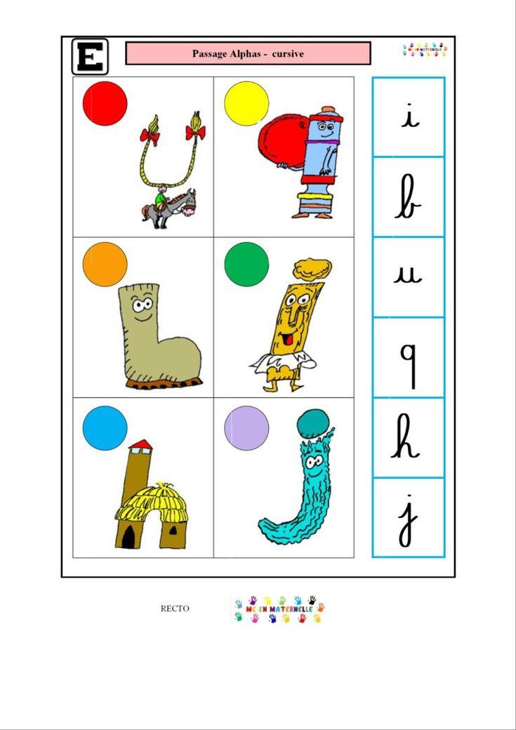 Logico Des Alphas : Passage Alphas – Cursive | Alphas, Les destiné Fiche Logico ? Imprimer