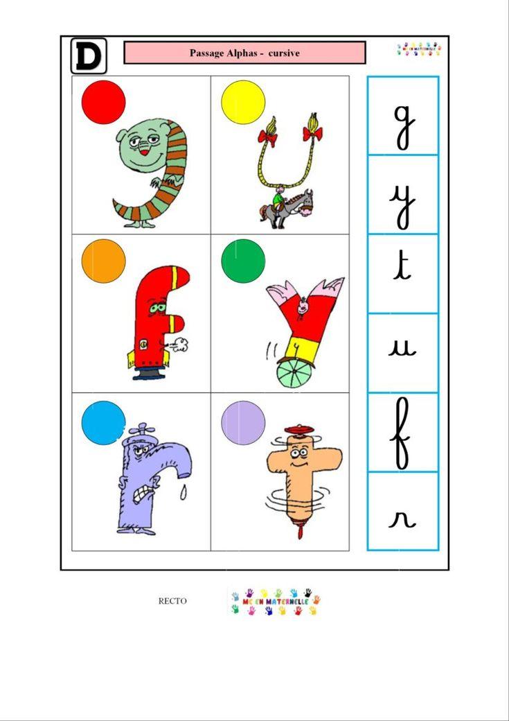 Logico Des Alphas : Passage Alphas – Cursive | Alphas tout Fiche Logico ? Imprimer